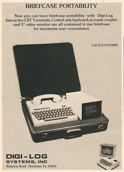 """Digi-Log: """"Briefcase Portability"""" (1976)"""