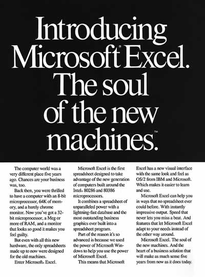 "Microsoft: ""Introducing Microsoft Excel"" (1987)"