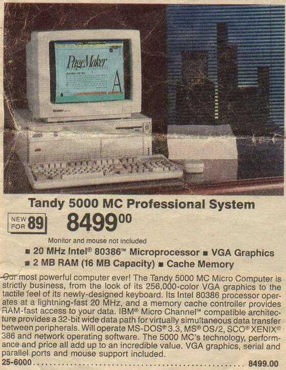 Tandy 5000 MC Professional System