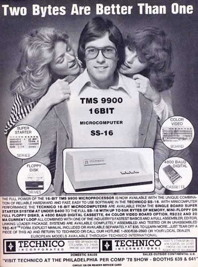 """Technico Inc TMS9900: """"Two bytes are better than one"""" (1978)"""